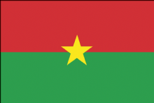 BURKINA FASO - HAND WAVING FLAG (MEDIUM)